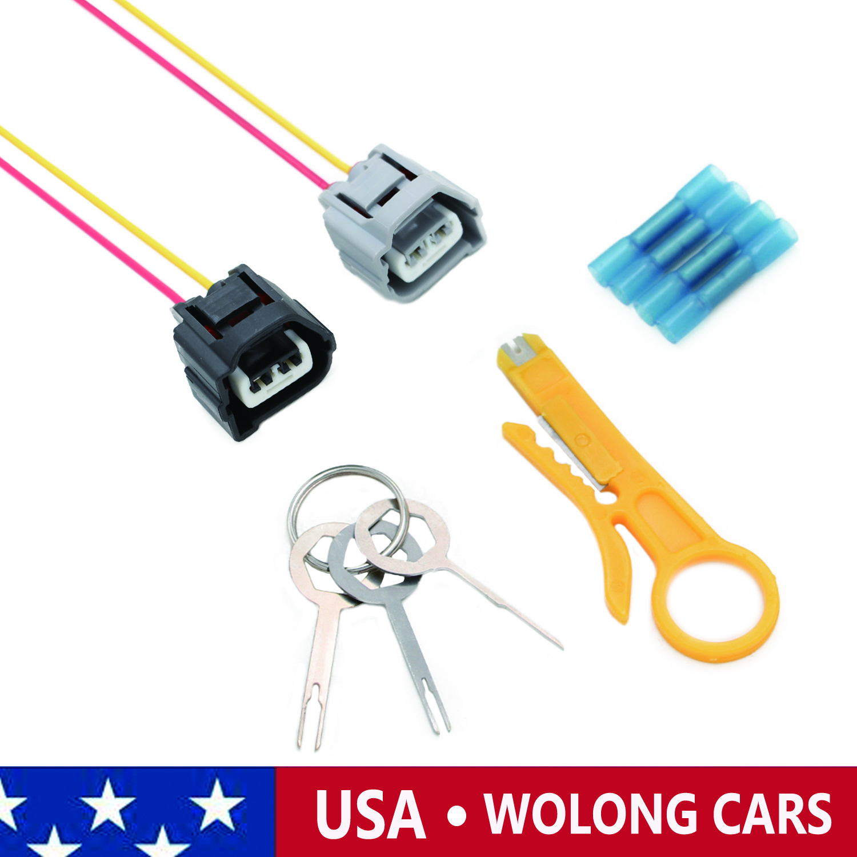 Details about 2X Ignition Coil Plug Connectors Wiring Harness with on kia versa, kia sonoma, kia rodeo, kia mpv, kia ranger, kia forenza, kia santa fe, kia azera, kia elantra, kia vue,